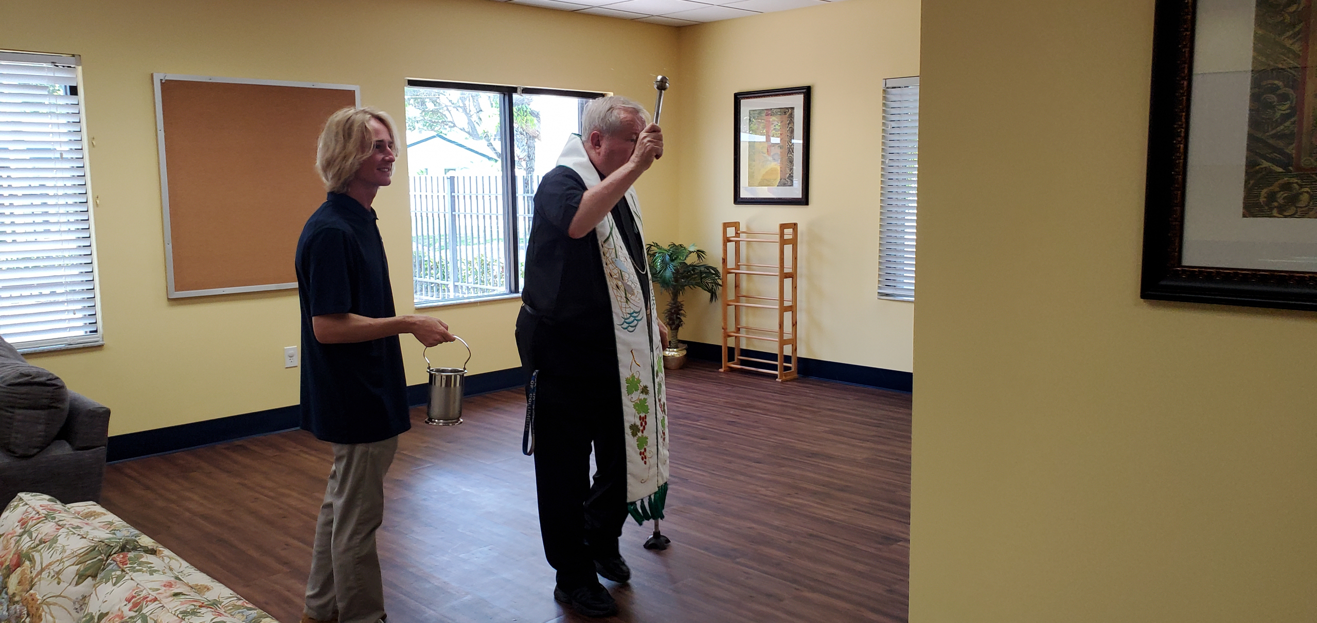 Blessing of the New Blessed Carlo Acutis Center for our Young Adult group